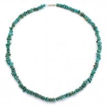 Colier de turcoaze naturale amerindiene | argint 925 | Statele Unite