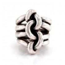 Impresionant inel statement modernist | argint 925 | Statele Unite