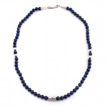 Colier modernist american decorat cu lapis lazuli | argint 925 | designer Carolyn Pollack | cca. 1980