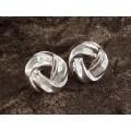 Cercei clipsuri din argint cu design statement modernist   atelier Barra   Statele Unite   cca. 1980