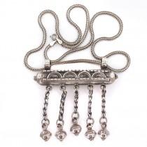 Colier islamic decorat cu o impresionantă amuletă Muska  | manufactură în argint | Turcia