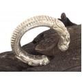 Veche brățară tibetană manufacturată în argint | triburile Newar | Nepal - Valea Kathmandu | început de secol XX