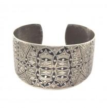 Veche brățară amuletică otomană | Nazar Boncugu | manufactură în argint și niel | cca.1900
