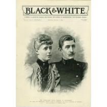 Casatoria Regala :  Ferdinand I & Maria de Edinburgh. Black & White. ianuarie 1893
