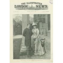 Logodna Regala : Ferdinand I si Maria de Edinburgh . The illustrated London News 23 iulie 1892