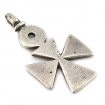 Impresionantă amuletă creștin-ortodoxă Cruce Coptică | manufactură în argint masiv | sec XIX