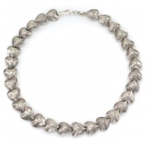 Colier statement Hill Tribe elaborat în manieră modernistă | manufactură în argint masiv | Thailanda