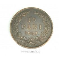 10 bani 1867  HEATON : EROARE NECATALOGATĂ !