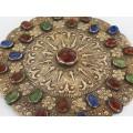 Opulentă amuletă pectorală turkmenă Gulyaka | triburile Yomut | manufactură în argint aurit | cca.1900 Turkmenistan