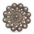 Veche broșă tunisiană splendid manufacturată în argint filigranat | sf. de secol XIX