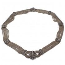 Elegant colier vintage multistrand Ottoman Revival manufacturat în argint | Trabzon - Turcia