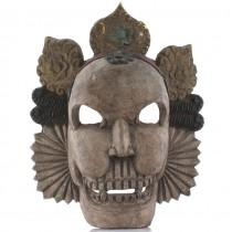 Spectaculoasă mască tibetană Citipati | Shmashana Adhipati | Nepal | a doua jumătate a secolului XX
