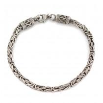 Brăţară balineză unisex Byzantine Chainmaille | manufactură în argint | Indonezia