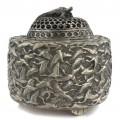 Vechi aromatizator extrem-oriental din bronz argintat | Minogame | China - perioada republicană cca. 1930