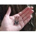 Rafinați cercei teardrop din argint placat cu aur roz & decorați cu o bogată suită de cristale | Italia anii 2010