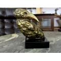 Sculptură brutalistă în bronz redând un corb | Alaska Raven | cca. 1960 | Canada
