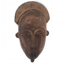 Veche mască ceremonială Ndoma   triburile Baule   Coasta de Fildeș   prima jumătate a secolului XX