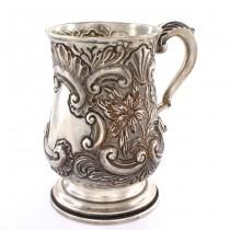 Halbă din argint sterling spendid decorată și stilizată în manieră Neorococo | atelier  Tacchi & Loprieno | cca. 1968