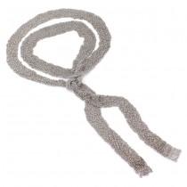 Splendid colier - eșarfă din argint împletit mesh   atelier Nuove Gioie   colecția 2018 -2019