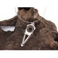 Colier choker din argint accesorizat cu o spectaculoasă amuletă tuaregă | manufactură unicat în argint & carneol natural