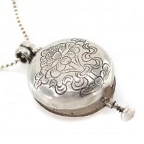 Colier din argint accesorizat cu o veche amuletă locket tibetană | Ghau | Nepal