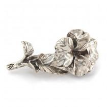 Broșă de rever rafinat stilizată sub forma unei panseluțe | manufactură din argint | Italia