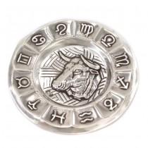 Vide-poche din argint decorat cu simboluri zodiacale | Taur | Spania cca. 1940