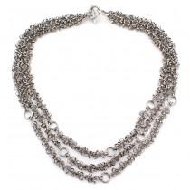 Colier statement multistrand din argint | design contemporan | anii 2010