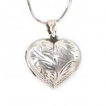 Colier din argint cu pandant locket stilizat sub forma unei inimi | Italia