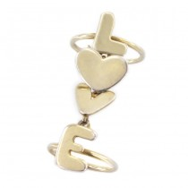 Inel Valentines din argint aurit | Love | anii 2010