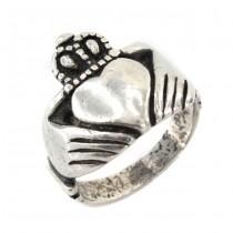 Inel romantic Claddagh din argint   atelier Simeone El Rana   Italia