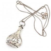 Colier din argint accesorizat cu un flacon pentru parfum | Marea Britanie