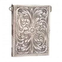 Ramă foto de voiaj manufacturată în argint decorat prin gravare manuală