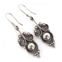 Eleganți cercei etnici indieni manufacturați în argint 925