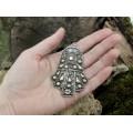 Impresionantă amuletă pectorală Etruscan Revival | manufactură în argint | cca.1920