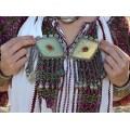 Impresionantă pafta etnică turkmenă   triburile Tekke   manufactură în argint & carneol   Turkmenistan cca.1900