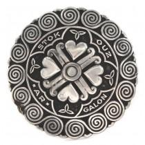 Broșă statement Celtic Revival | manufactură în argint | semnată Pierre Peron | cca. 1935 - 1938