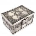 Casetă de bijuterii Art Nouveau - Jugendstil   alamă argintată   Germania cca. 1900 -1910