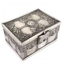 Casetă de bijuterii Art Nouveau - Jugendstil | alamă argintată | Germania cca. 1900 -1910