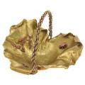 Spectaculos coș japonez Art Nouveau pentru aranjamente ikebana    bronz aurit & cuprat   perioadă Meiji   cca.1900