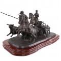 Impresionantă sculptură andaluză în bronz | Crescătorii de tauri |  Eduardo Soriano Menendez - Spania