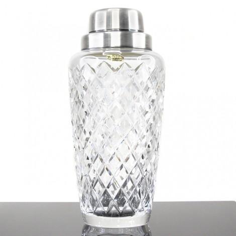 Shaker Art Deco din cristal fațetat & nichel argintat | atelier WMF | cca.1940 - 1950