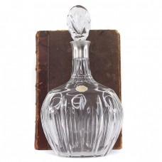 Decantor Art Deco din cristal cu montură din argint  | atelier Tritschler Winterhalder Co. și Gayer & Krauss | cca. 1930