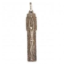 Inedit pandant religios modernist | Corpus Christi | manufactură în argint | atelier Livi Romano | cca. 1970