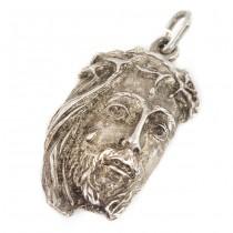 Pandant modernist Isus Hristos | manufactură în argint | atelier Marchesi Mario | Italia cca. 1960 -1970