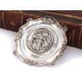 Iconiță din argint pentru expunere parietală | Îngerul păzitor  | Italia cca. 1950 -1960