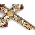 Crucifix relicvariu cu 10 moaște ale unor sfinți creștini | cca. 1920 - 1930 | Germania