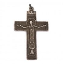 Vechi pandant crucifix în stil medieval scandinav | argint | atelier Ottaviani | cca. 1950 -1960