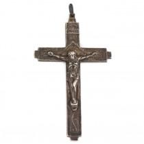 Pandant crucifix din argint stilizat în manieră heraldică scoțiană | atelier Ditta Fratelli Martino | cca. 1950 - 1960