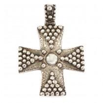 Pandant cruce bizantină din argint 950  | atelier Zolotas | Grecia
